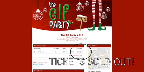 Elf Party 2013 - SOLD OUT